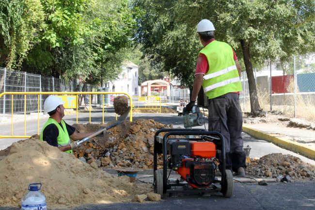 Obras del Tanque de Tormentas en Calle la Fuente
