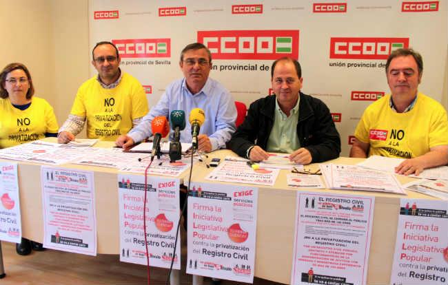 Rueda de prensa de CCOO de Sevilla