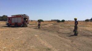 bomberos aeropuerto incencio pastos