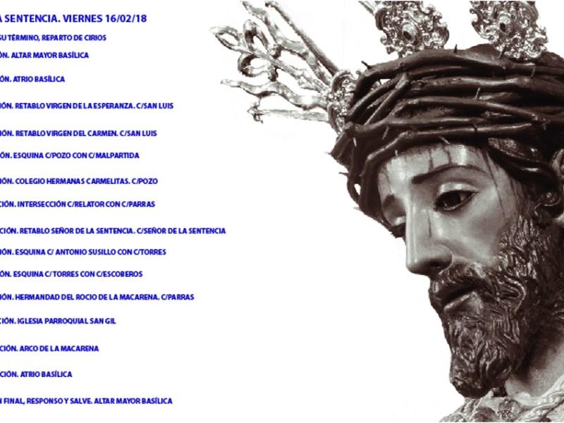 Infografía del itinerario y horario del Vía Crucis