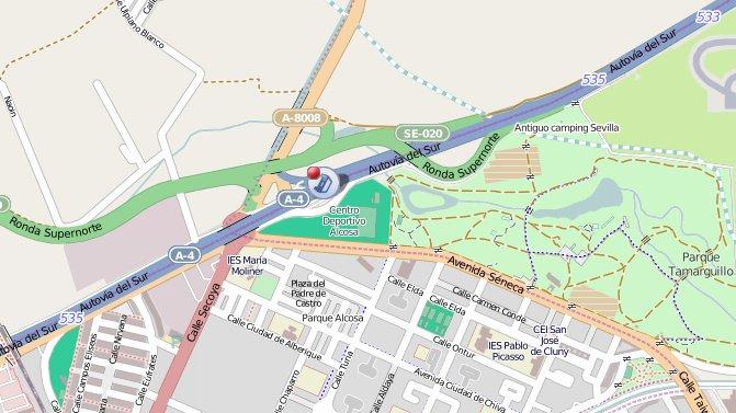 Plano del accidente /@EmergenciasSev