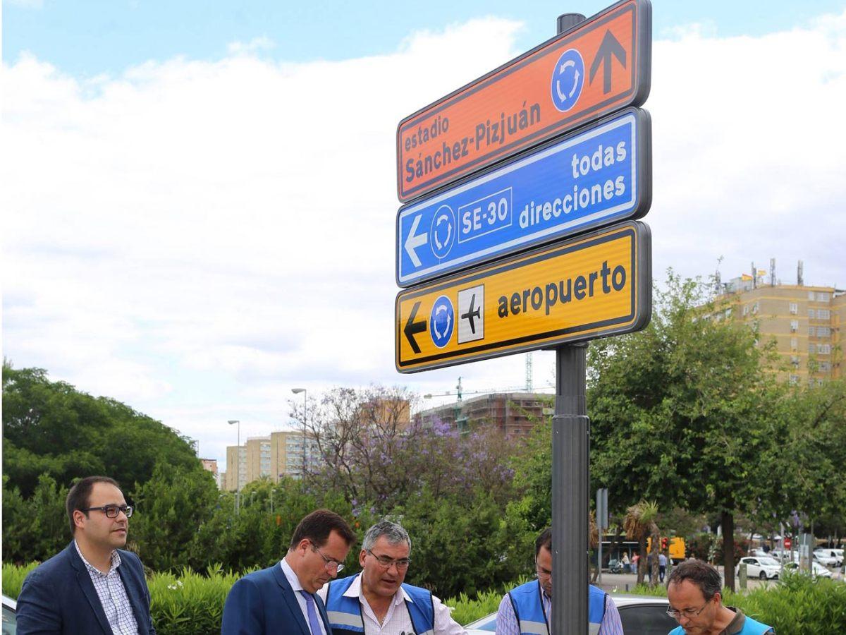 Nueva señalética de la ciudad /Ayto. Sevilla