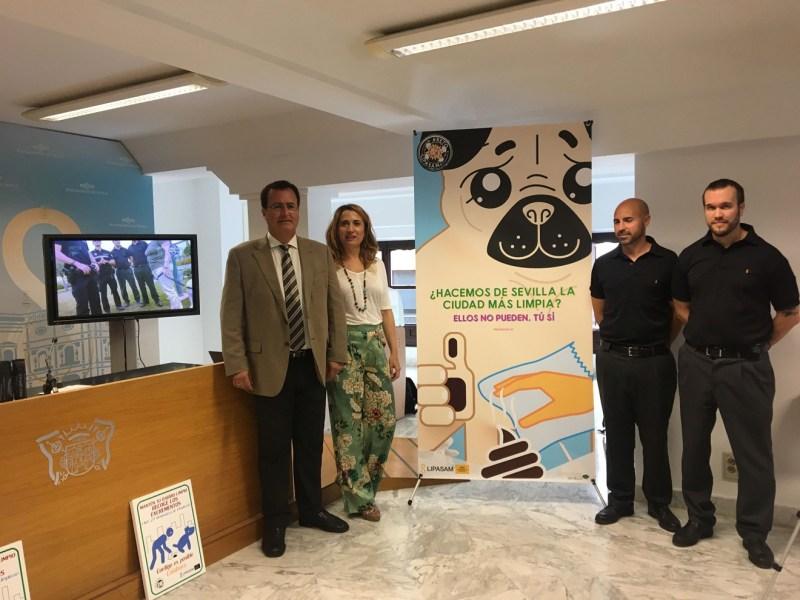 Presentación campaña contra excrementos caninos en vía pública /Ayto. Sevilla