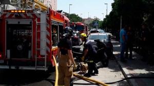 Rescate en el incendio de Parque Alcosa /Ayto.Sevilla