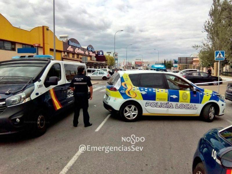 Lugar del tiroteo /@EmergenciasSev
