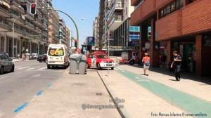 Incendio en parking de Los Remedios /@EmergenciasSev