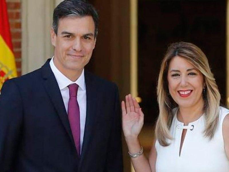Pedro Sánchez recibe a Susana Díaz en la Moncloa / @AndalucíaJunta