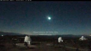 Meteoro captado por el Observatorio de Calar Alto /Calar Alto