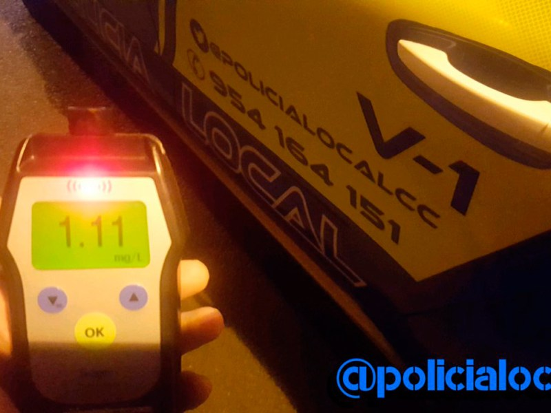 Resultado del test de alcoholemia /PoliciaLocalcc