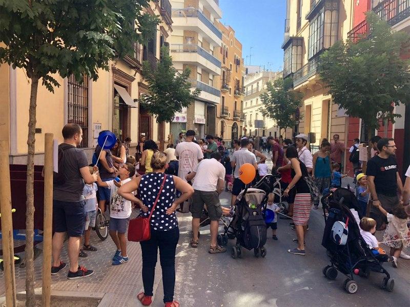 Día sin coche en Amor de Dios /Ayto. Sevilla