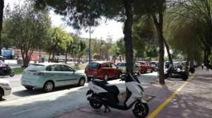 Nuevas plazas de aparcamientos para motos /Ayto. Sevilla