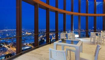 Vistas desde el nuevo bar del hotel Torre Sevilla /Eurostars Torre Sevilla