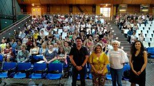 Parte del alumnado y del profesorado / Delegación de Educación de la Junta en Sevilla