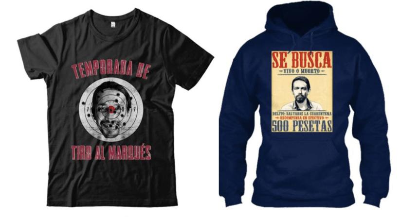 Camisetas con la cara de Pablo Iglesias Ensangrentado