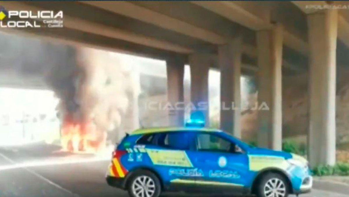 Incendio vehículo