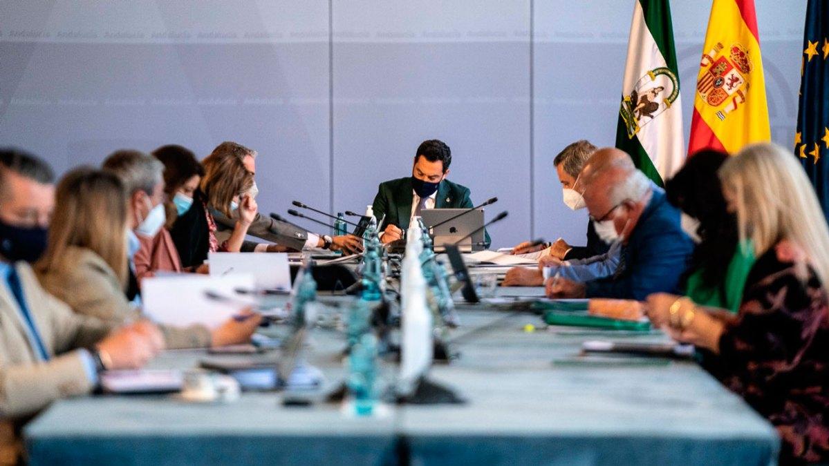 Juanma Moreno en Consejo de Gobierno