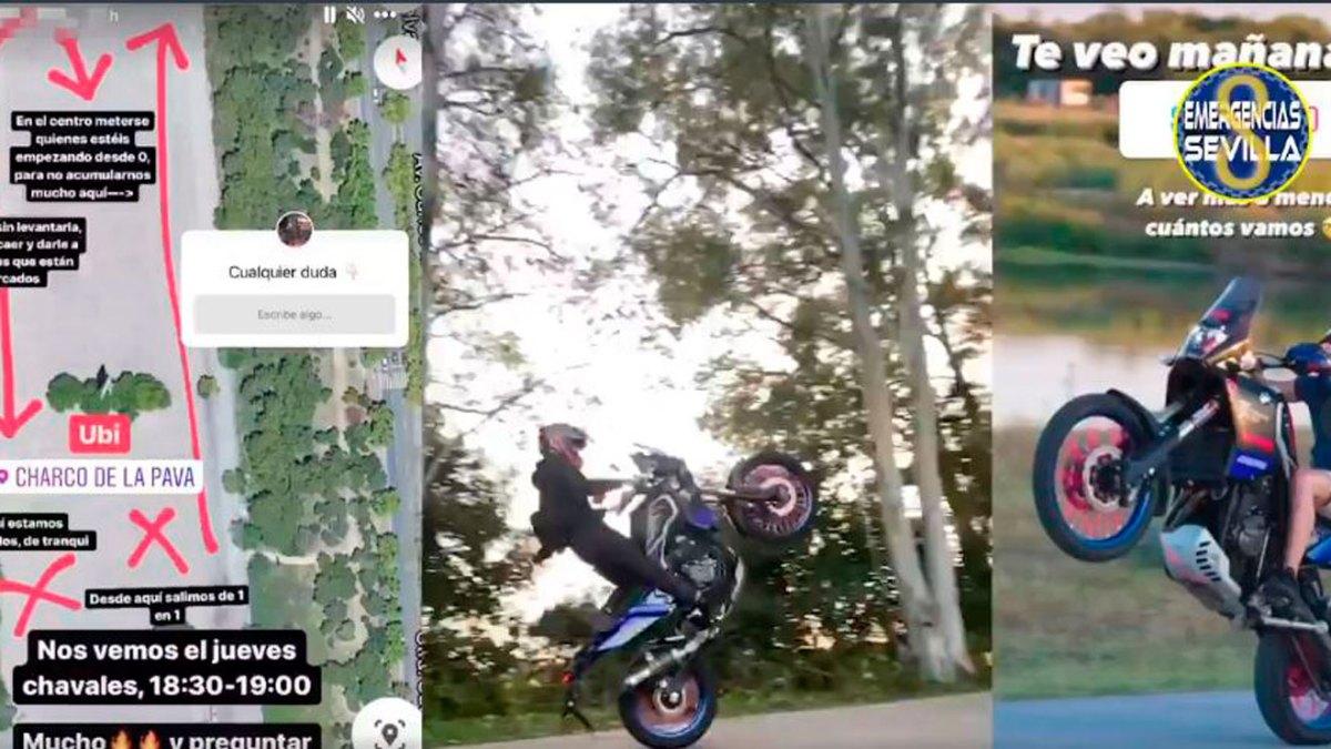 Convocatoria de concentración de motos