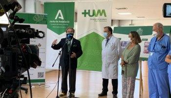 Inauguración del balcón de la esperanza en el Macarena