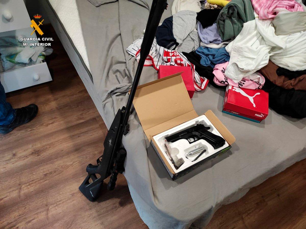 Armas incautadas en la operación / Guardia Civil
