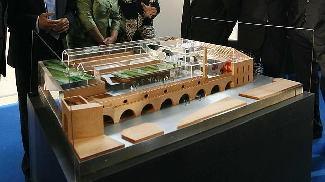 Maqueta del proyecto de rehabilitación de Vázquez Consuegra.