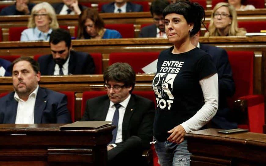 Puigdemont, JUnaqueras y Ana Gabriel.
