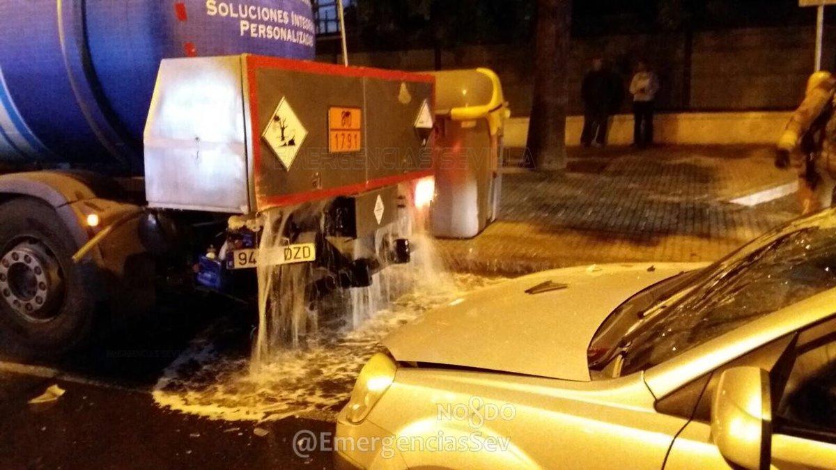 Escape de cloro del camión cisterna.