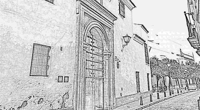 Dibujo del Convento de Santa Inés