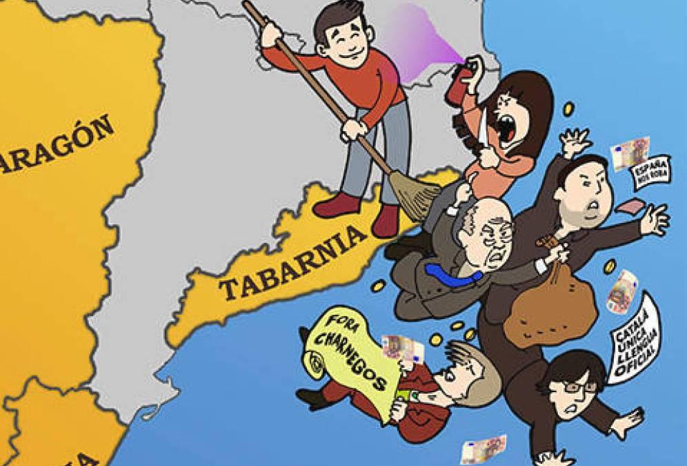 Dibujo de Tabarnia contra los independentistas