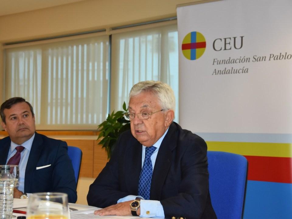 Francisco Herrero, en la Fundación CEU San Pablo