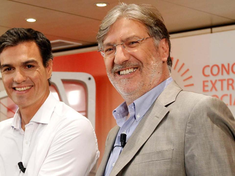 Pérez Tapias con Pedro Sánchez