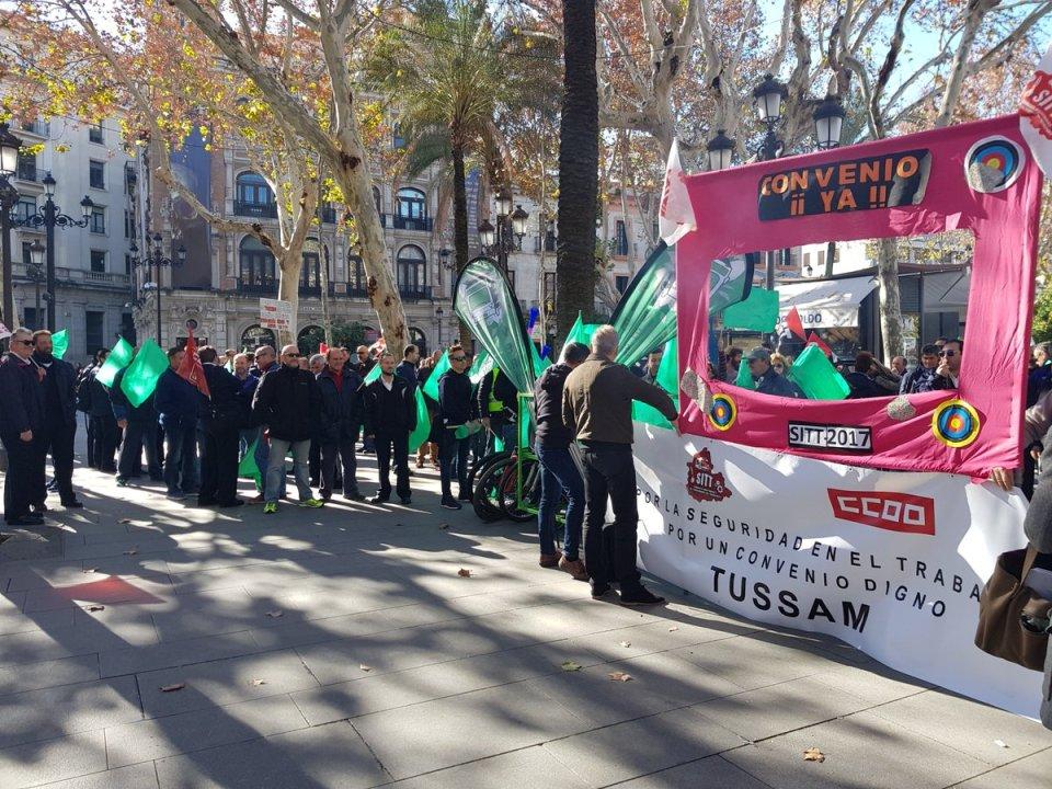 Movilización empleados Tussam