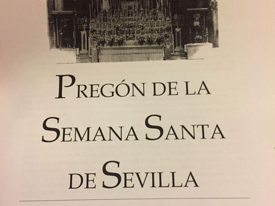 Pregón de la Semana Santa de Sevilla 2018