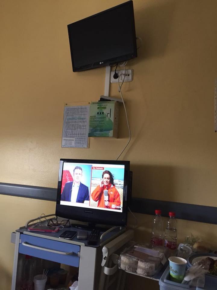 El pequeño monitor que la familia intentó utilizar al no poder sufragar el coste de la televisión de pago