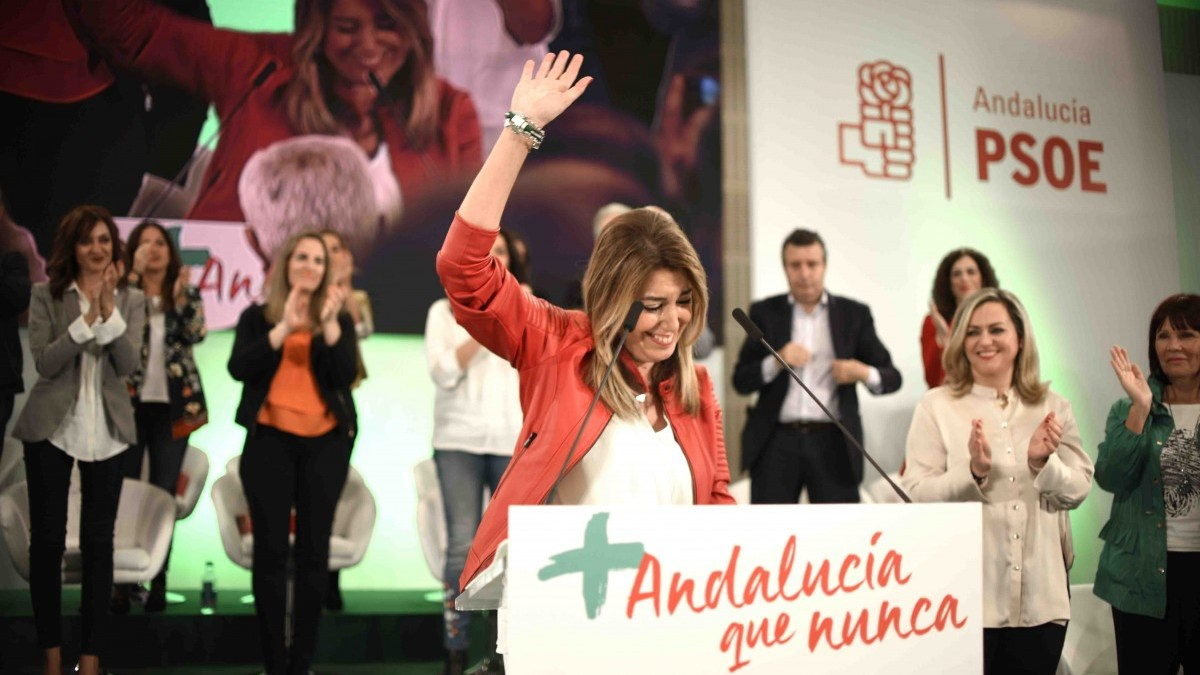 Susana Díaz en la presentación de su candidatura