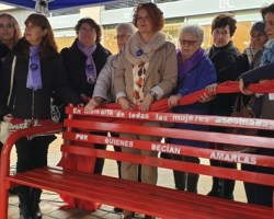 El Ayuntamiento instala bancos para conmemorar el Día Internacional de la Violencia hacia las mujeres