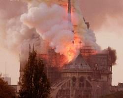 Un año del incendio de Notre Dame de París