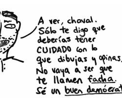 Profesor Jaén a trazos. Democracia bolivariana