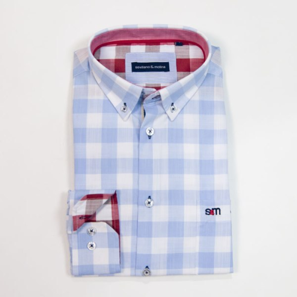 Sevillano y Molina – Camisa Aguadilla Celeste