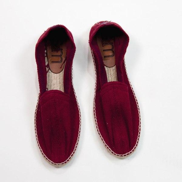 Sevillano y Molina – Tienda online moda hombre – Calzado de hombre – Espartos hombre – Copete espiga Combi Burdeos
