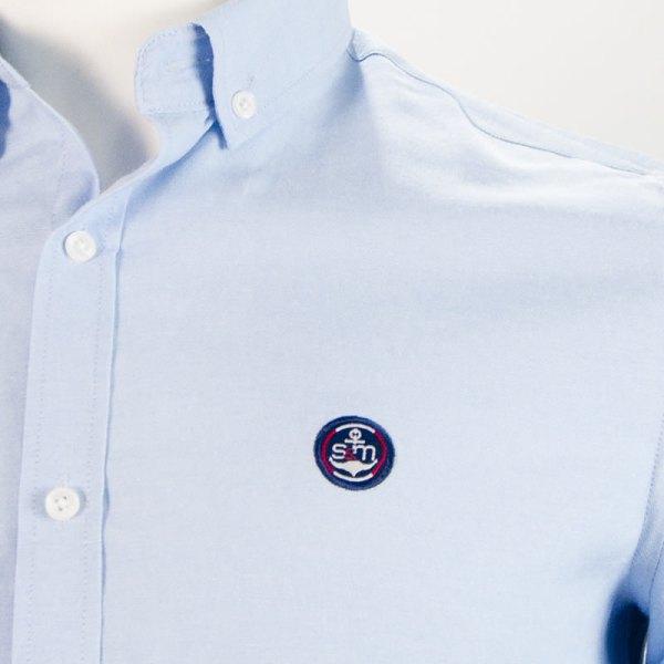Sevillano y Molina – Camisa Semientallada Celeste