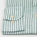Sevillano y Molina - Camisa Semientallada Rayas Verde