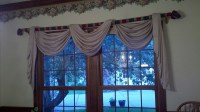 Dining Room Swag Curtains - Sew What? Sew Anything!