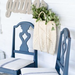 Diy Dining Chairs Makeover Van Chair Design Milk Paint And Grain Sack Project Challenge 4