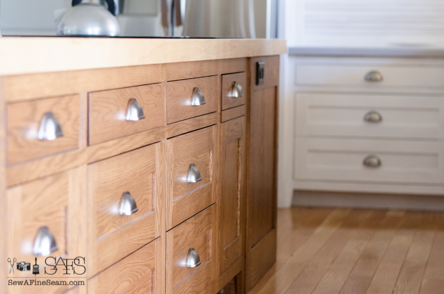 tall kitchen trash cans how to clean grease from cabinets custom painted with milk paint
