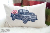 Vintage Truck Pillow + a Blog Hop