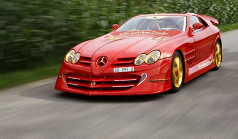 Mobil Termahal Di Dunia Mercedes Benz SLR McLaren 999 Red Gold Dream Ueli Anliker