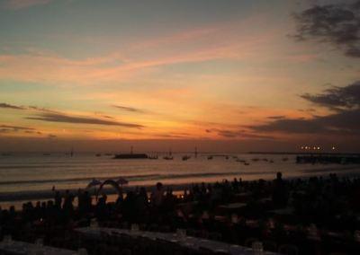 Pantai Jimbaran Bali Sunset Makan Malam Seafood 01-12092016