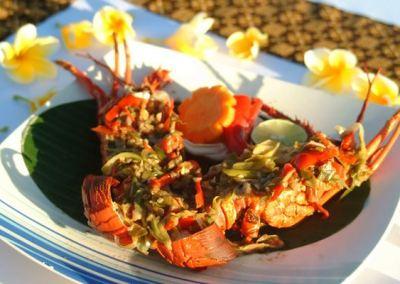 Pantai Jimbaran Bali Sunset Makan Malam Seafood 03