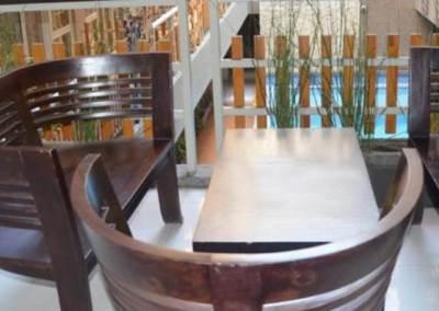 Hotel Rivavi Kuta Beach Bali - Wood Chair