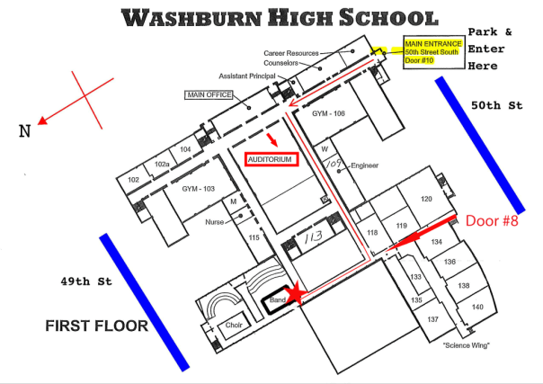 Washburn School Plan Auditorium